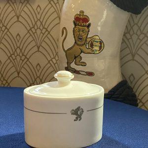 Cunard Queen Elizabeth 2 Bone China Sugar Bowl with lid