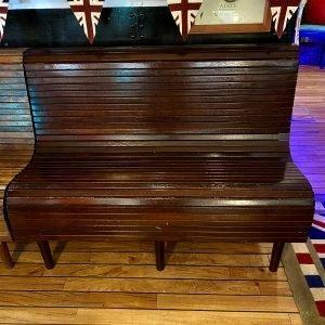 Ships style, boat deck bench Iroka hardwood seating.
