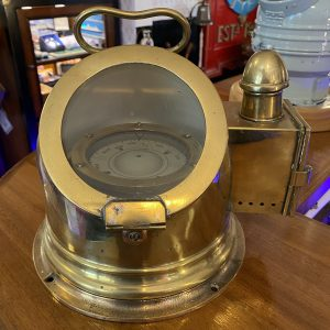 Sestrel Brass Boat Compass and Binnacle