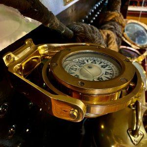 Nautik, Bergen Norway. Bulkhead fix gimballed Small Boat Compass