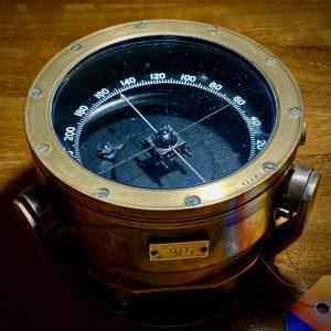 Vintage Brass Japanese Spit Bar Compass