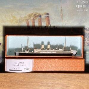 Bassett-Lowke Waterline Model Ship The SS Ormuz (SS Dresden) Orient Line