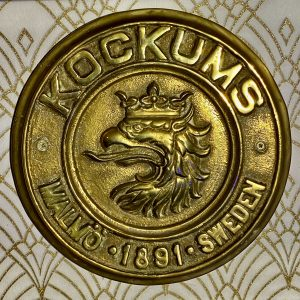 Swedish Brass Ships Builders Plaque, inscribed Kockums Malmo 1891