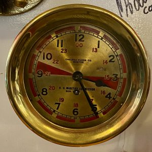 United States Maritime Commission Ship's Radio Room Clock, by Chelsea Clock Company