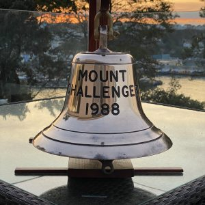 Heavy Brass Ships Bell from the MV Mount Challenger 1988